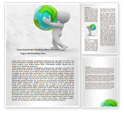Habitat Word Template, 07919, Global — PoweredTemplate.com
