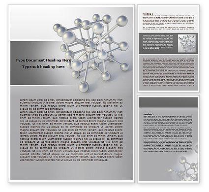 Molecular Lattice Word Template, 07924, Technology, Science & Computers — PoweredTemplate.com