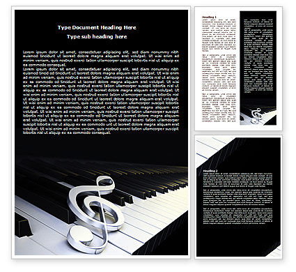Art & Entertainment: Music Key Word Template #07925