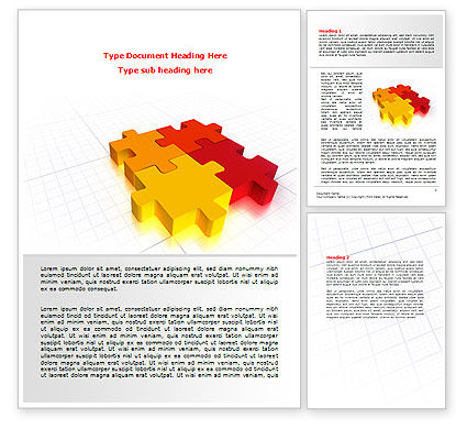 Fitting the Puzzle Word Template, 07926, Business — PoweredTemplate.com