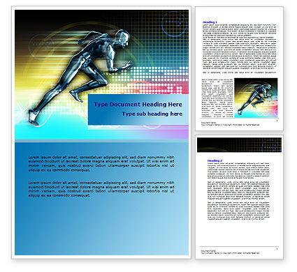 Running Iron Man Word Template, 07928, Sports — PoweredTemplate.com