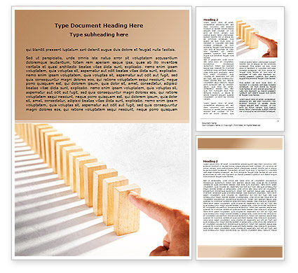 Business Concepts: Domino Effect Word Template #07929