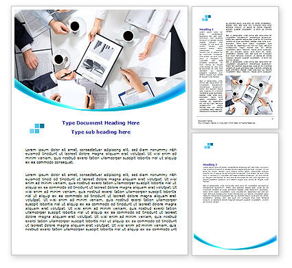 Coffee Break Meeting Word Template, 07935, Business — PoweredTemplate.com