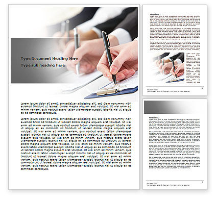 Business: Business Meeting Notes Word Template #07938