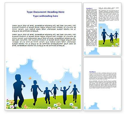 Happy People Word Template, 07939, Education & Training — PoweredTemplate.com