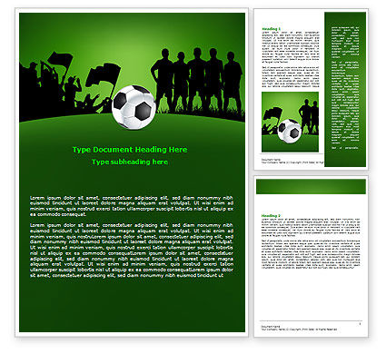Sports: Football Game Word Template #07943