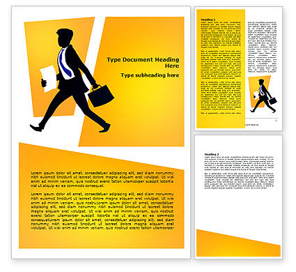 Business: Business Rush Word Template #07944