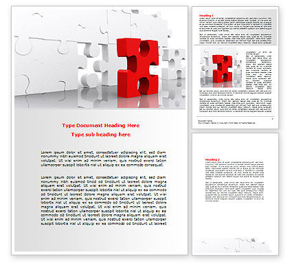 Fitting Puzzle Word Template, 07946, Consulting — PoweredTemplate.com