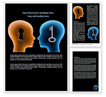 Matching Key Word Template, 07949, Consulting — PoweredTemplate.com