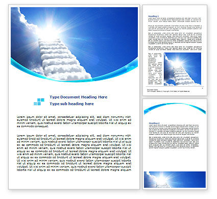 Religious/Spiritual: Heaven Ladder Word Template #07954