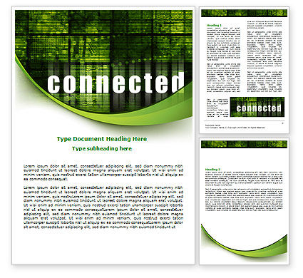 Telecommunication: Connected World Word Template #07958