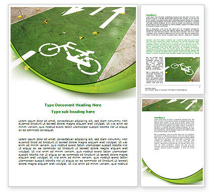 Bicycle Zone Word Template, 07961, Careers/Industry — PoweredTemplate.com
