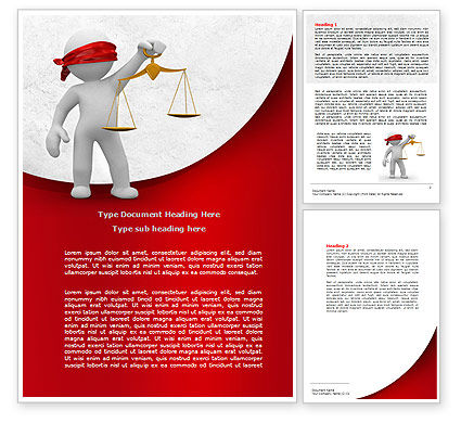 Justice Word Template, 07963, Legal — PoweredTemplate.com