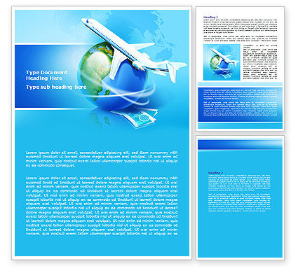 Airlines Word Template, 07964, Careers/Industry — PoweredTemplate.com