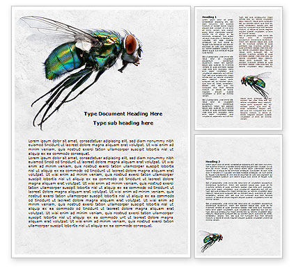 Fly Word Template, 07968, General — PoweredTemplate.com