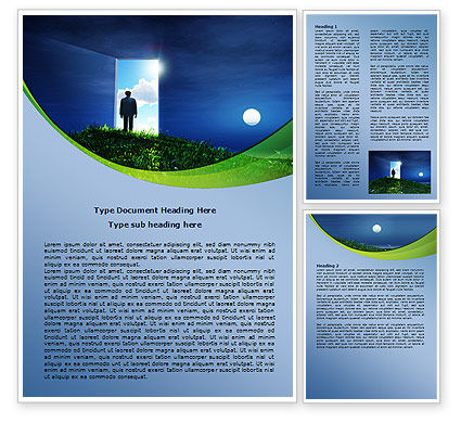 Between Nigh And Day Word Template, 07976, Consulting — PoweredTemplate.com