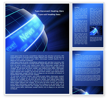 News Media Word Template, 07978, Careers/Industry — PoweredTemplate.com