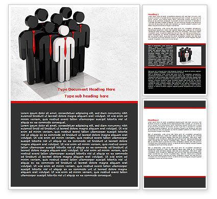 Business Team Leader Word Template, 07983, Education & Training — PoweredTemplate.com