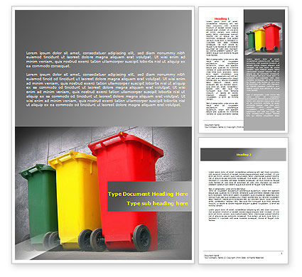 Nature & Environment: Recycling Business Word Template #07987