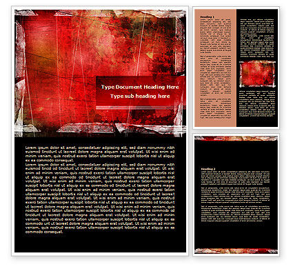 Abstract/Textures: Templat Word Red Tergores Latar Belakang #07991