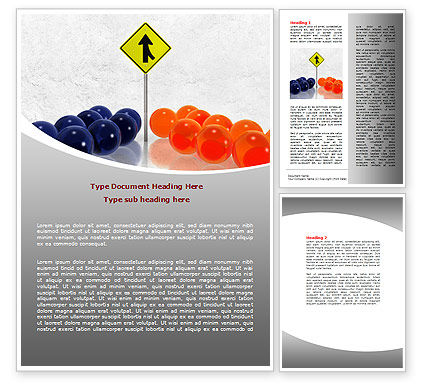 Two Teams Word Template, 07992, Business Concepts — PoweredTemplate.com