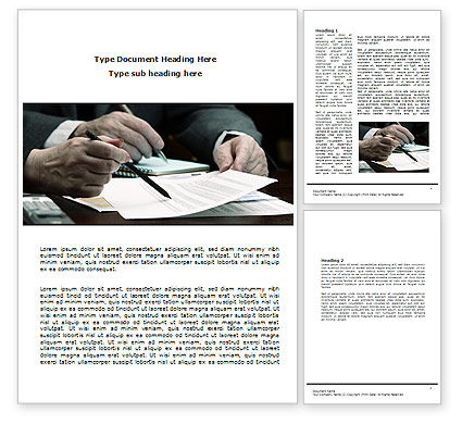 Sign Here Word Template, 08007, Business — PoweredTemplate.com