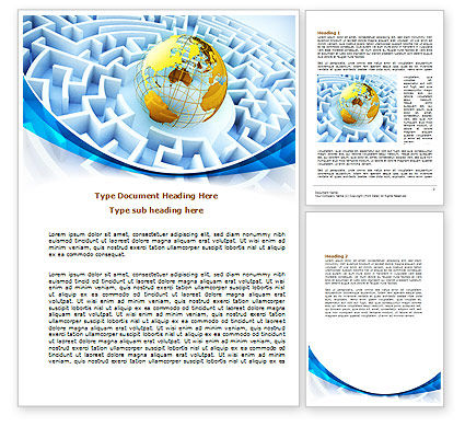 World Labyrinth Word Template, 08011, Global — PoweredTemplate.com