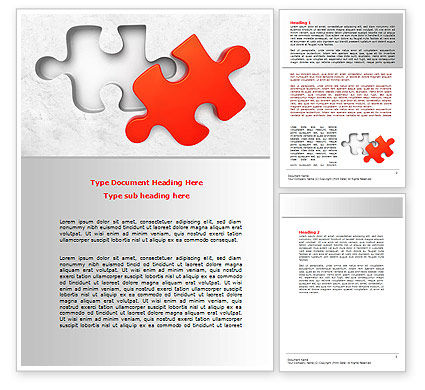Last Red Puzzle Word Template, 08014, Consulting — PoweredTemplate.com