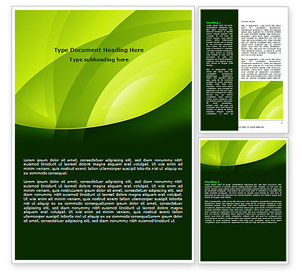 Abstract/Textures: Yellow - Green Theme Word Template #08016