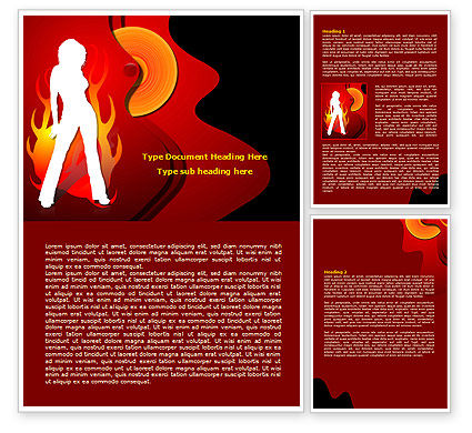 Art & Entertainment: Devil Girl Word Template #08021