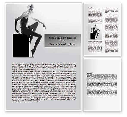 Slim Girl Word Template, 08022, Careers/Industry — PoweredTemplate.com