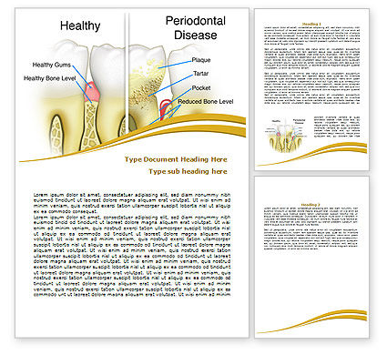 Periodontal Tooth Word Template, 08024, Medical — PoweredTemplate.com