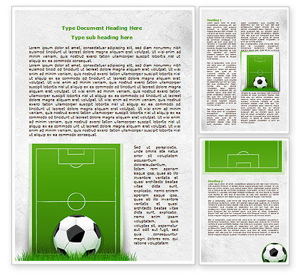 European Football Field Word Template, 08032, Sports — PoweredTemplate.com