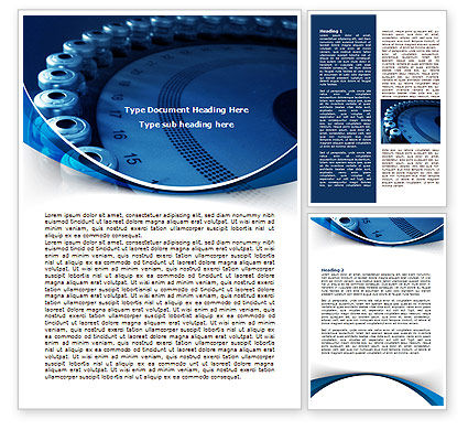 Laboratory Centrifuge Word Template, 08036, Careers/Industry — PoweredTemplate.com