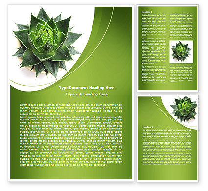 Aloe Plant Word Template, 08038, Agriculture and Animals — PoweredTemplate.com