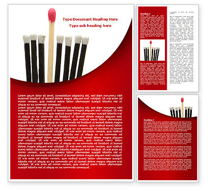 Business Concepts: Safety Match Word Template #08039