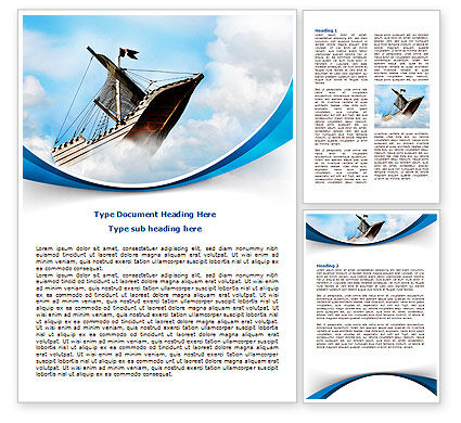 Business Concepts: Sailing Boat Word Template #08042