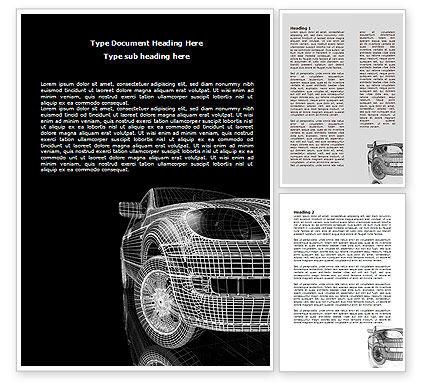 Car Modeling Word Template, 08047, Careers/Industry — PoweredTemplate.com