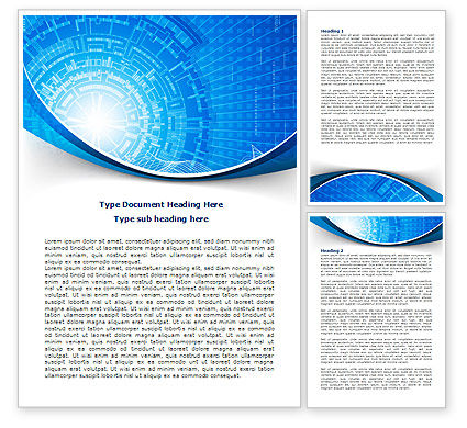 Abstract/Textures: Blue Fusion Reactor Word Template #08050