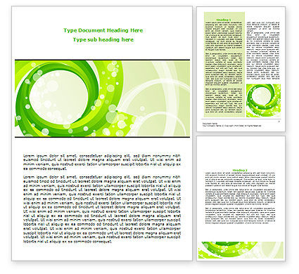 Abstract/Textures: Green Swirl Word Template #08051