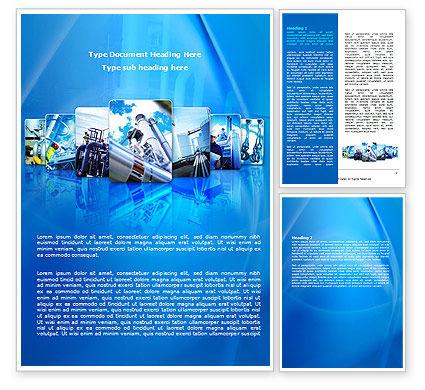 Utilities/Industrial: Pipe Welding Word Template #08060