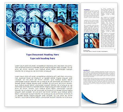 Brain MRI Scan Word Template, 08061, Medical — PoweredTemplate.com