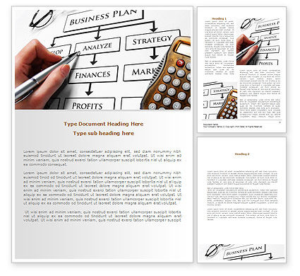 Consulting: Business Plan Analysis Word Template #08068