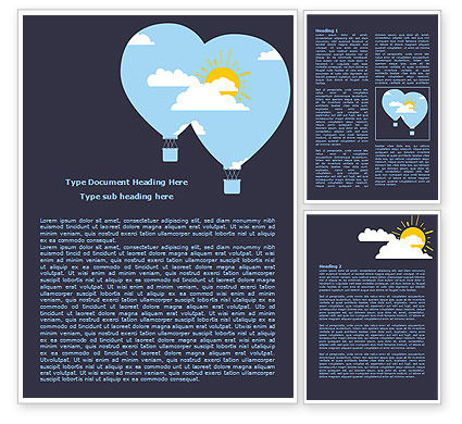Education & Training: Modern Hot Air Balloon Word Template #08069