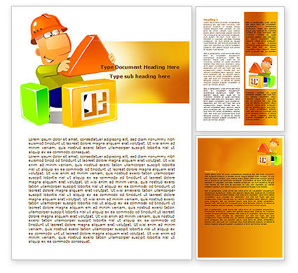 Construction: Building a House Word Template #08070
