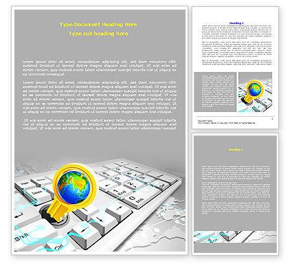 Keyboard Key Word Template, 08072, Technology, Science & Computers — PoweredTemplate.com