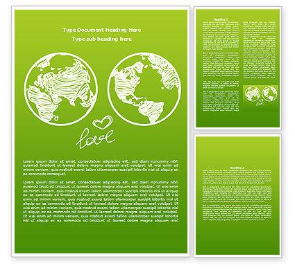 Peace Love Word Template, 08073, Religious/Spiritual — PoweredTemplate.com