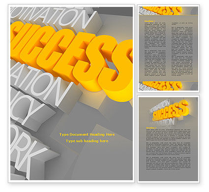 Success Motivation Word Template, 08080, Consulting — PoweredTemplate.com