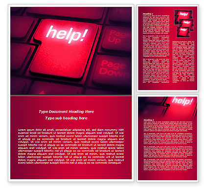 Consulting: Help Button Word Template #08085