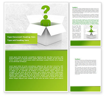 Question Man Word Template, 08088, Consulting — PoweredTemplate.com